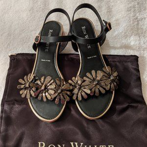 Ron White Virginia Onyx Sandals in Size 38